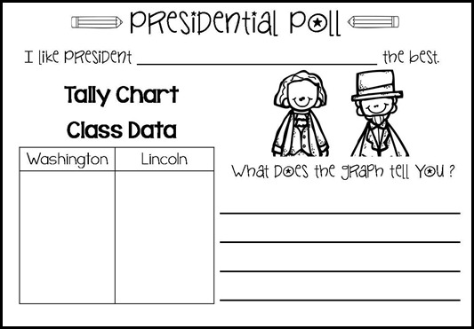 Presdient's Day mini book & graph12-001