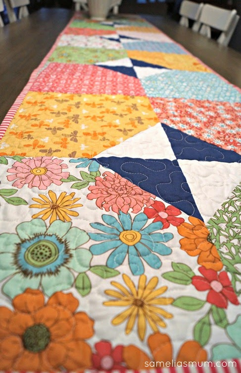 Layers of Charm - Table Runner Quilting