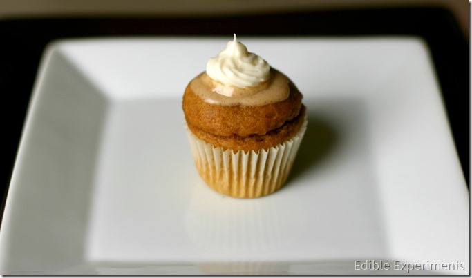 Mini Pumpkin Cupcakes with Apple Cider Glaze and Cream Cheese Frosting