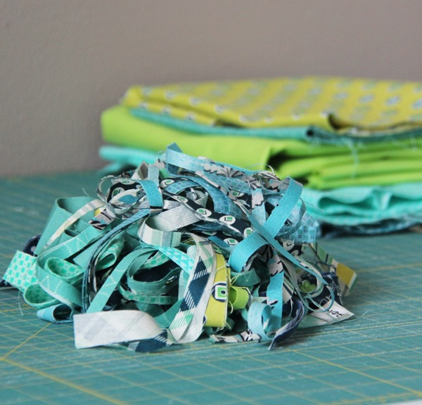 Blue and Green Scraps