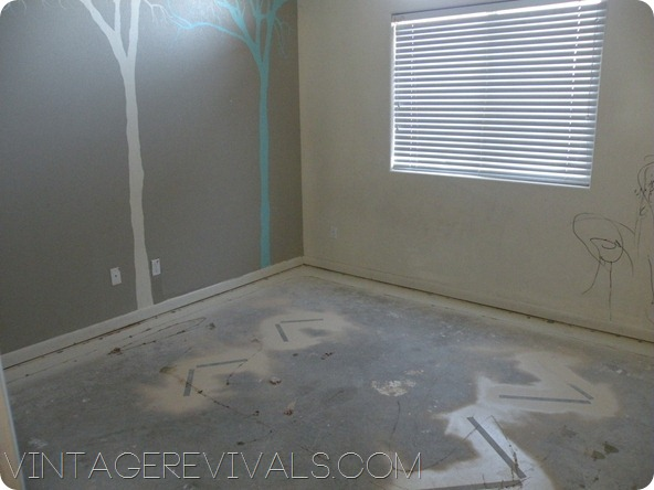 Vintage Revivals Painted Concrete Floors