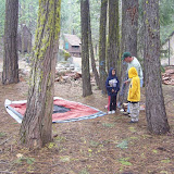Miles, Wes & Westin are setting up their tent