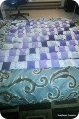 First quarter of the quilt rows done