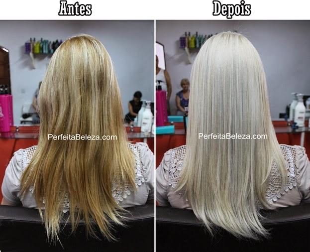 antes e depois de cabelo platinado, cabelo branco