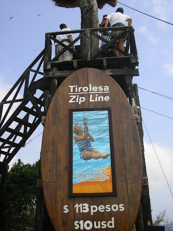 Isla Muheres photos: Flying fox