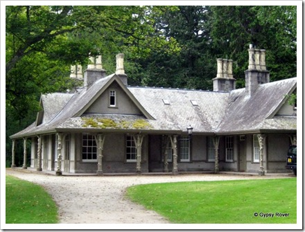 The Garden cottage at Balmoral castle which was an isolation hospital for 2 years.