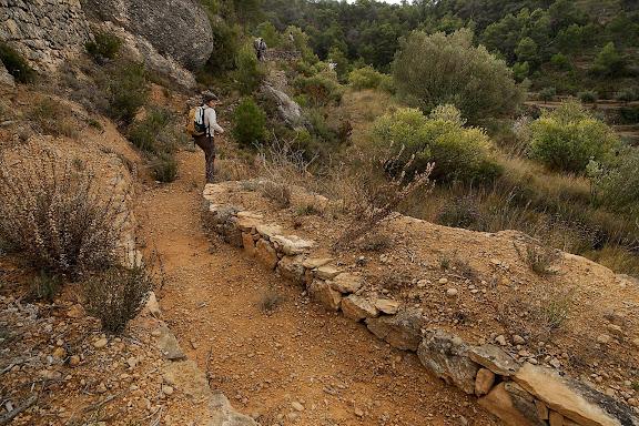 Antic camí ral de la Bisbal de Falset a Cabacés. Xarxa de camins del Priorat. La Bisbal de Falset, Priorat, Tarragona