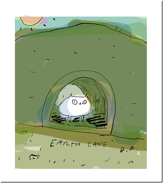 Earth Cave Summer Ink Drawing by Jamie Shelman on Etsy