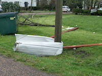 Hedrick storm damage