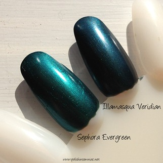 Sephora Evergreen vs. Illamasqua Veridian