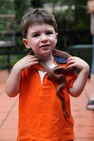 Oli and a snake