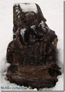 El ángel despertando al obispo - Fuente de la Virgen - Roncesvalles
