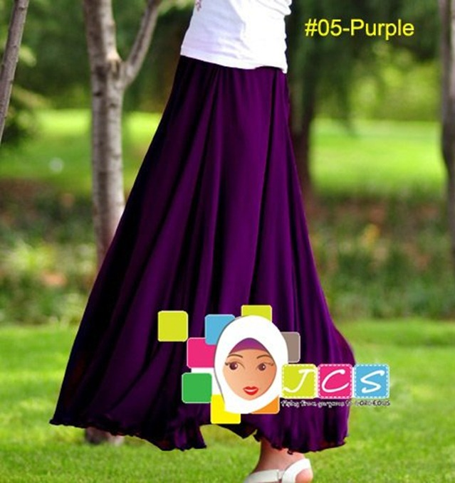 AWESOME CHIFFON CREPE PURPLE
