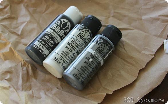 paint for zinc letters