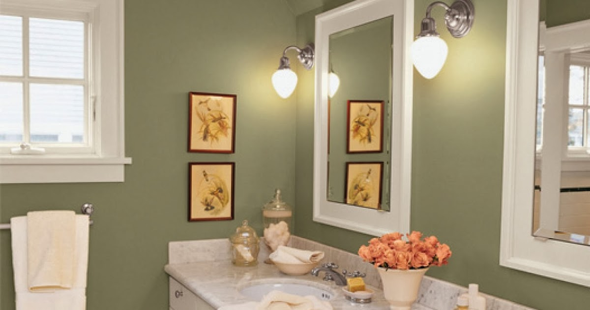 Bathroom paint colors casual cottage for Bathroom color ideas 2014