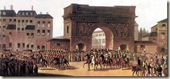 Entrée des russes à Paris en 1814