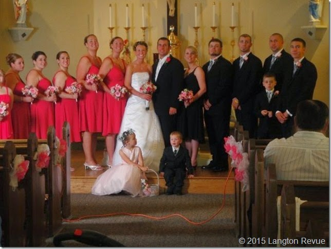 Andy em bridal party