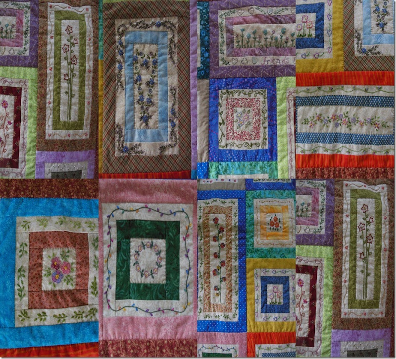 Embroideries on Quilt