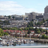 view of south Vancouver from the Granville Bridge in Vancouver, British Columbia, Canada