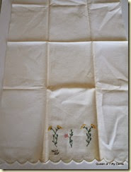 Emboidered towel