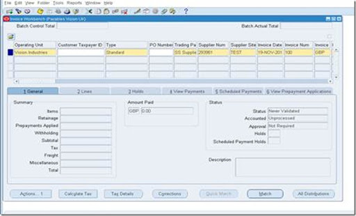 Go To Payables Responsibility And Create Simple Invoice  How To Make A Simple Invoice