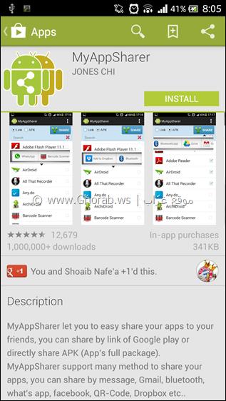 Install MyAppSharer