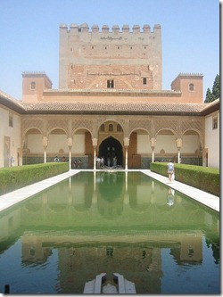 Comares-Tower-and-Myrtle-Court,-Alhambra,-Spain-2480