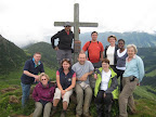 One of the regular overseas trips takes the group for a week in Austria reaching the tops of mountains with a local guide.
