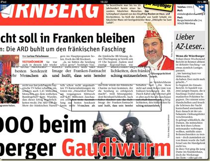 Abendzeitung Druckfehler