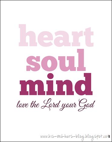 free printable love the lord your god pink