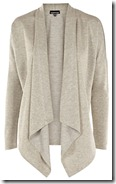 Warehouse Silver Drape Cardigan