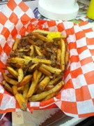 Fresh cut fries, with mustard
