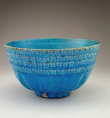 Bowl | Origin:  Iran | Period: 18th or 19th century  Qajar period | Details:  Not Available | Type: Stone-paste painted under glaze | Size: W: 14.9  cm | Museum Code: S1997.121 | Photograph and description taken from Freer and the Sackler (Smithsonian) Museums.