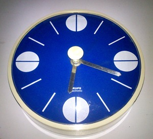 blue Krups Electronic wall clock