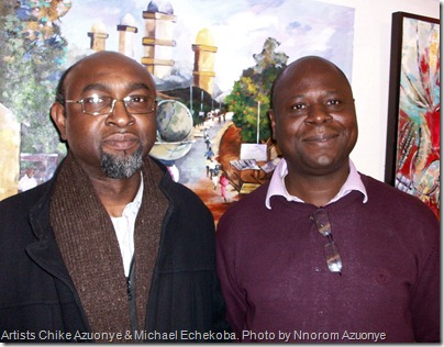 Chike Azuonye and Mike Echekoba