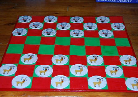 homemade checkers game