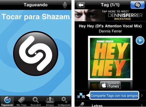 Shazam para móvil