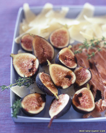 Figs and Prosciutto: Sweet figs make the perfect pairing for a thin slice of savory Prosciutto di Parma.