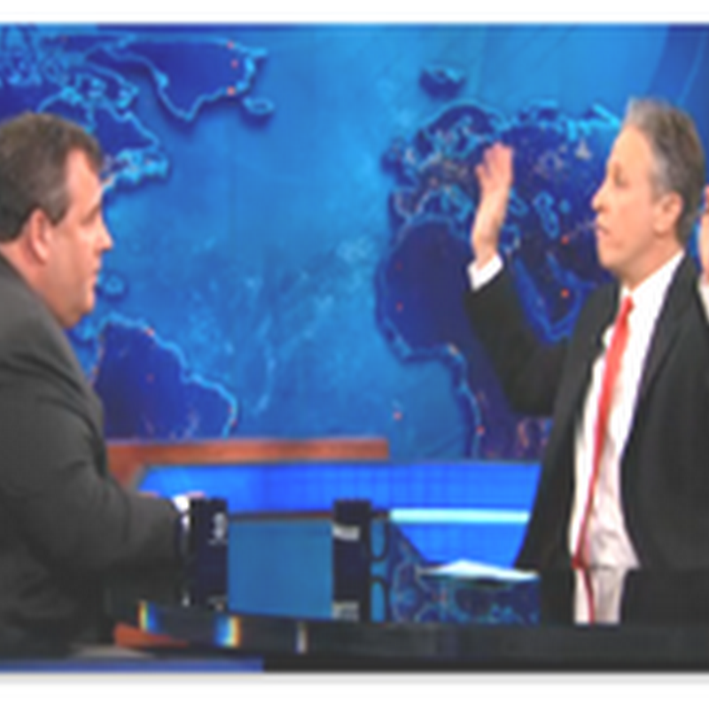 "Jon Stewart, A Nice ""Intelligent"" Interchange With The ""Other New Jersey"" Boss–Governor Christie, Insurance Exchanges and More…"