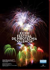CARTEL ANUNCIADOR FESTIVAL PIROTECNIA VALENCIA 2012