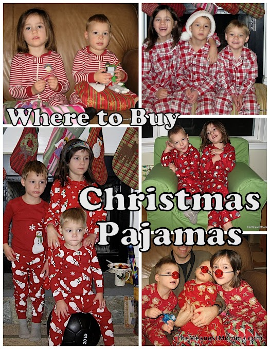 Places to Buy Christmas PJs | The Meanest Momma