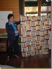 Fay with quilt
