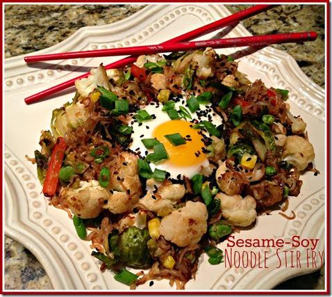 sesame soy noodle stir fry
