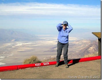 Nancy at Dante's View, Death Valley NP