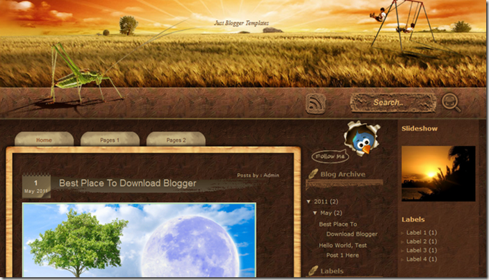 sunset-nature-theme-blogger-template