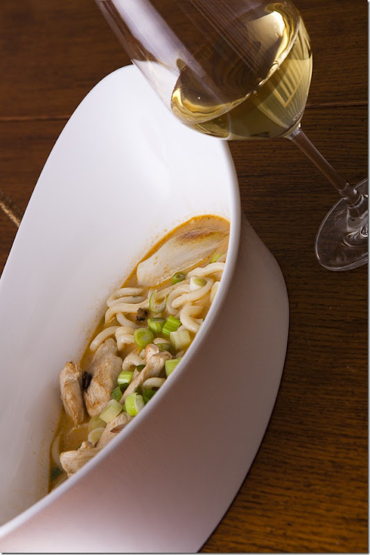 Udon Noodle Soup with Thai Curry Paired with 2008 Frei Brothers Reserve Russian River Valley Chardonnay