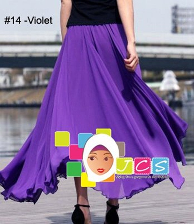 AWESOME CHIFFON CREPE VIOLET