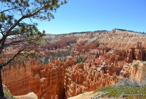 Our first glimpse into Bryce Canyon
