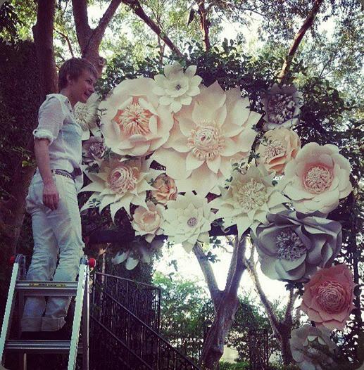 behind the scenes 1157673_489837391110647_1410746086_n paper floral artistry