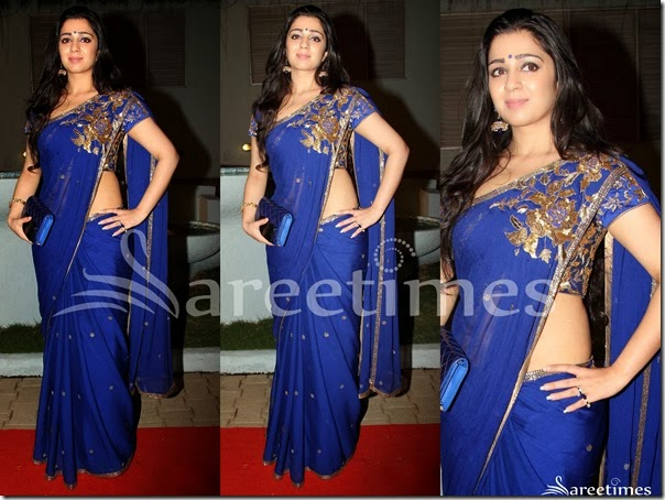 Charmi_Blue_Georgette_Saree